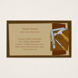 Carpinteiro Cartão De Visitas