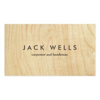 Carpinteiro e trabalhador manual de madeira claros cartão de visita