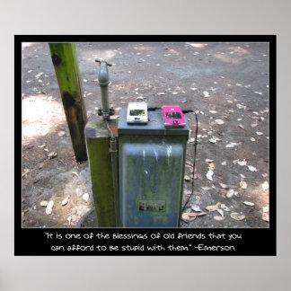 Carregamento dos telemóveis poster
