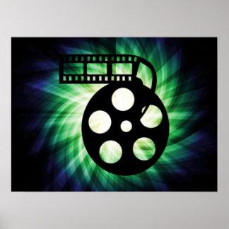 Carretel de filme legal do filme poster
