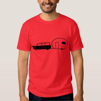 Carrinha do vintage e reboque do rv t-shirt
