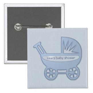 carrinho de bebê azul pins