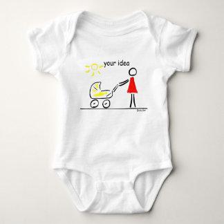 carrinho de bebê camiseta