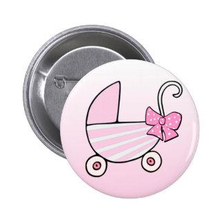 Carrinho de bebê cor-de-rosa do bebé boton