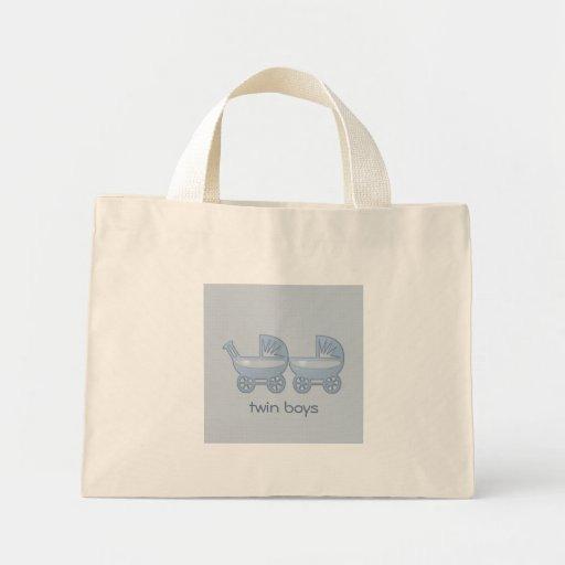carrinho de bebê gêmeo azul bolsa de lona