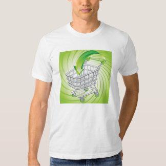 Carrinho de compras do supermercado camiseta