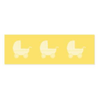 Carrinho de criança de bebê amarelo modelos cartão de visita