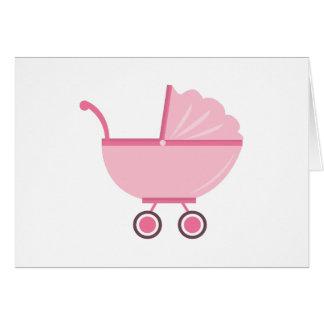 Carrinho de criança de bebê cartao
