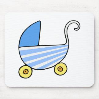 Carrinho de criança de bebê do menino mouse pads