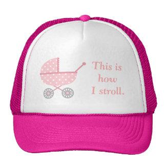 Carrinho de criança de bebê engraçado para que as bones