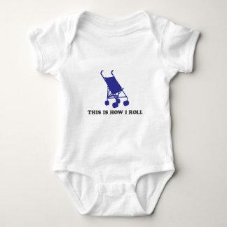 Carrinho de criança de bebê - isto é como eu rolo camiseta