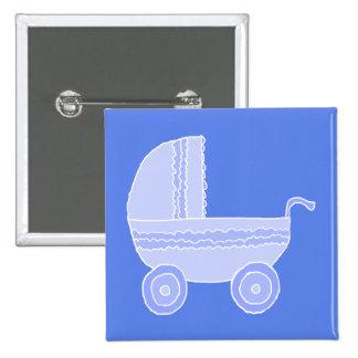 Carrinho de criança de bebê. Luz - azul no azul me Pins