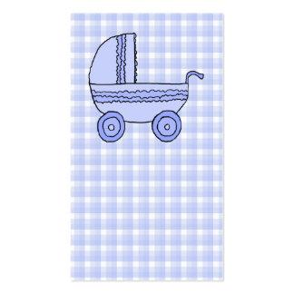 Carrinho de criança de bebê. Luz - azul no teste p Modelo Cartoes De Visita