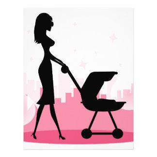 Carrinho de criança de bebê modelos de papel de carta