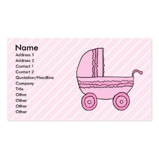 Carrinho de criança de bebê Rosa na luz - listras Cartão De Visita