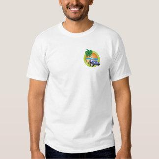 Carrinho de duna de Califórnia Volks com palmas T-shirts