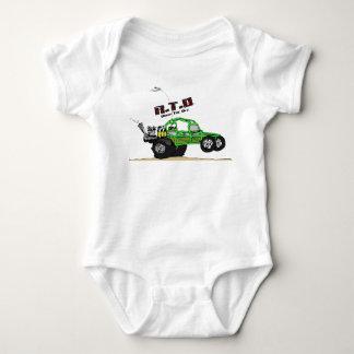 Carrinho de duna do deserto para o bebê t-shirts