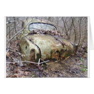 Carro abandonado cartão