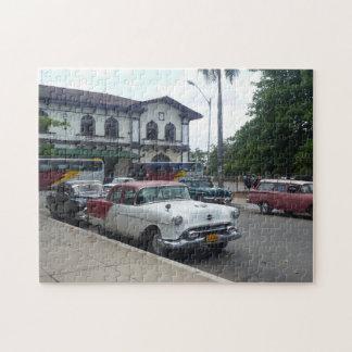 Carro americano velho em Cuba Quebra-cabeças De Fotos