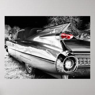 Carro antigo do cromo poster