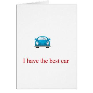 Carro azul cartão