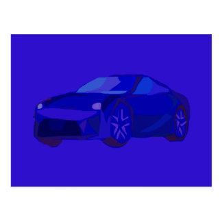 Carro azul cartão postal