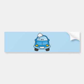 Carro azul com bolhas adesivo para carro
