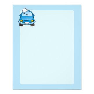 Carro azul com bolhas flyer 11.43 x 14.22cm