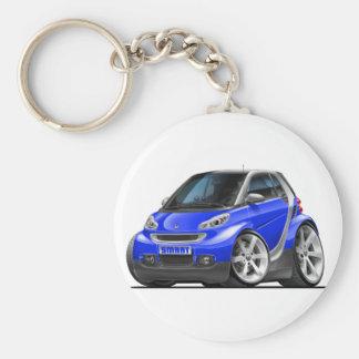Carro azul esperto chaveiros