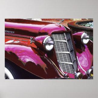 Carro clássico: Castanho-aloirado Poster