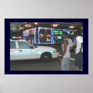 Carro da bobina e pedestres, Nova Orleães Posteres