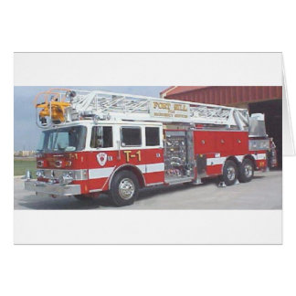 carro de bombeiros cartão