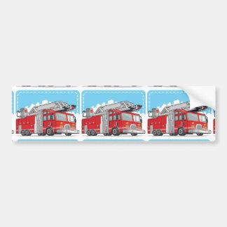 Carro de bombeiros ou viatura de incêndio vermelha adesivo para carro