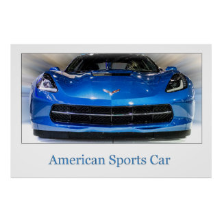 Carro de esportes americano pôster
