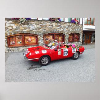 Carro de esportes em Seefeld em Tirol Pôster
