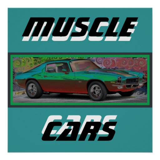 carro do músculo 70s posters