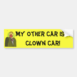 Carro do palhaço adesivo para carro