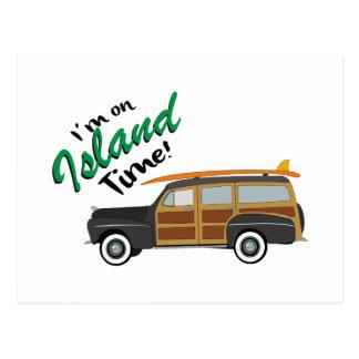 Carro do tempo da ilha cartão postal