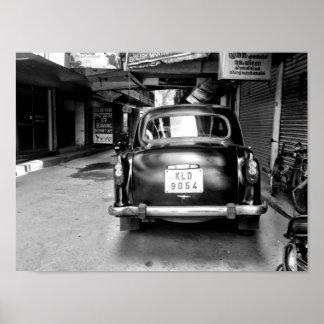 Carro indiano velho póster