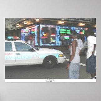 Carro na noite, Nova Orleães da bobina, Louisiana Poster