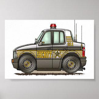 Carro-patrulha do carro do xerife poster