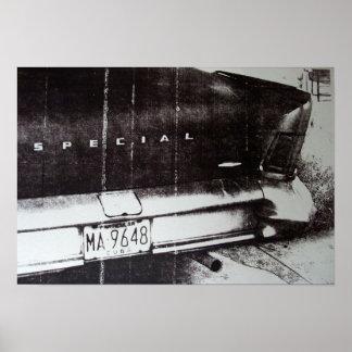 Carro preto e branco poster