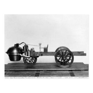 carro Vapor-psto inventado Cartão Postal