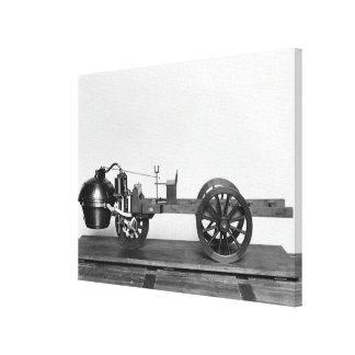 carro Vapor-psto inventado Impressão Em Tela