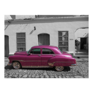 Carro velho em Trinidad, Cuba Posteres
