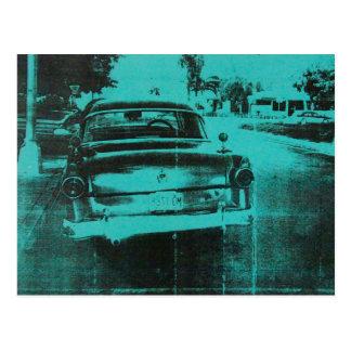 Carro verde cartão postal