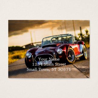 Carro vermelho. Carro clássico Cartão De Visitas