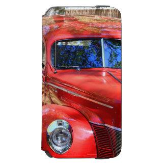 Carro vermelho clássico capa carteira incipio watson™ para iPhone 6