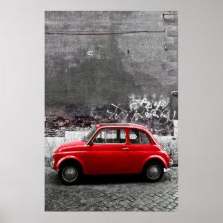 Carro vermelho poster