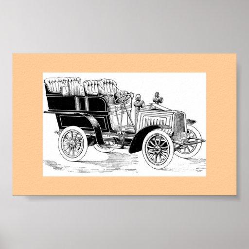 Carro vintage pôsteres